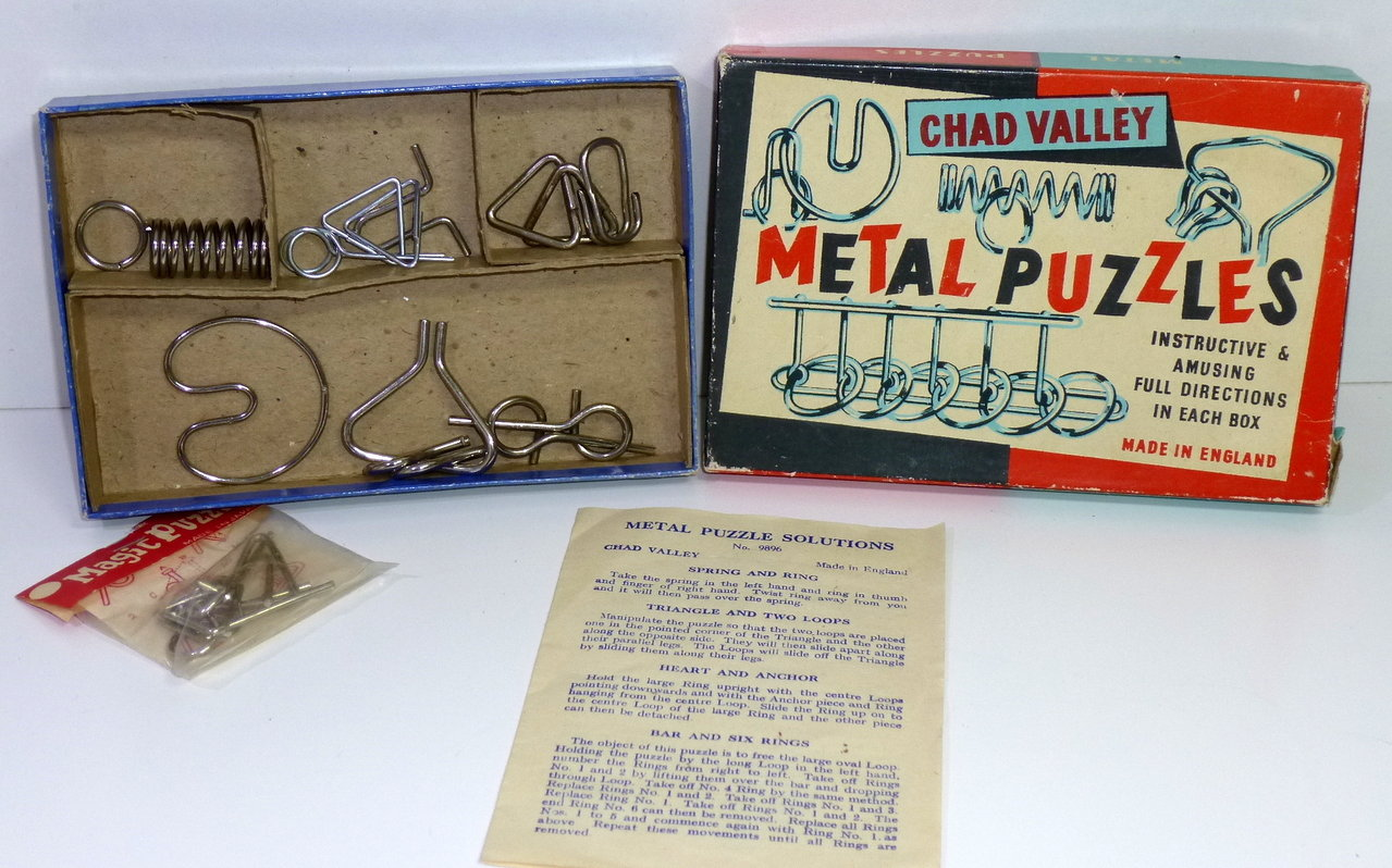 1950's # Chad Valley - Metal Puzzles in Original Box !!