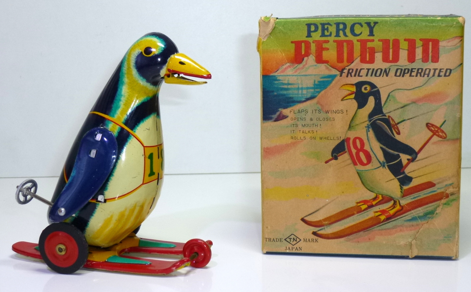 "TN / Nomura # 1950's ""PERCY PINGUIN"" , in Original Box !!"