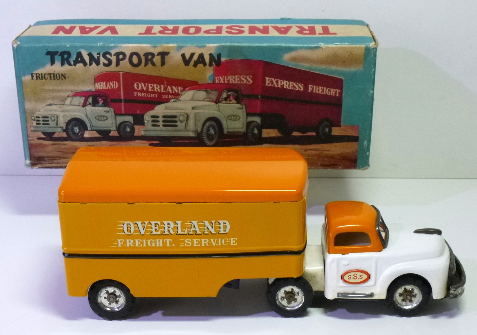 "SSS-Toys (Japan) # 1960's Dodge ""Overland Freight Service"" Truck in Original Box !!"