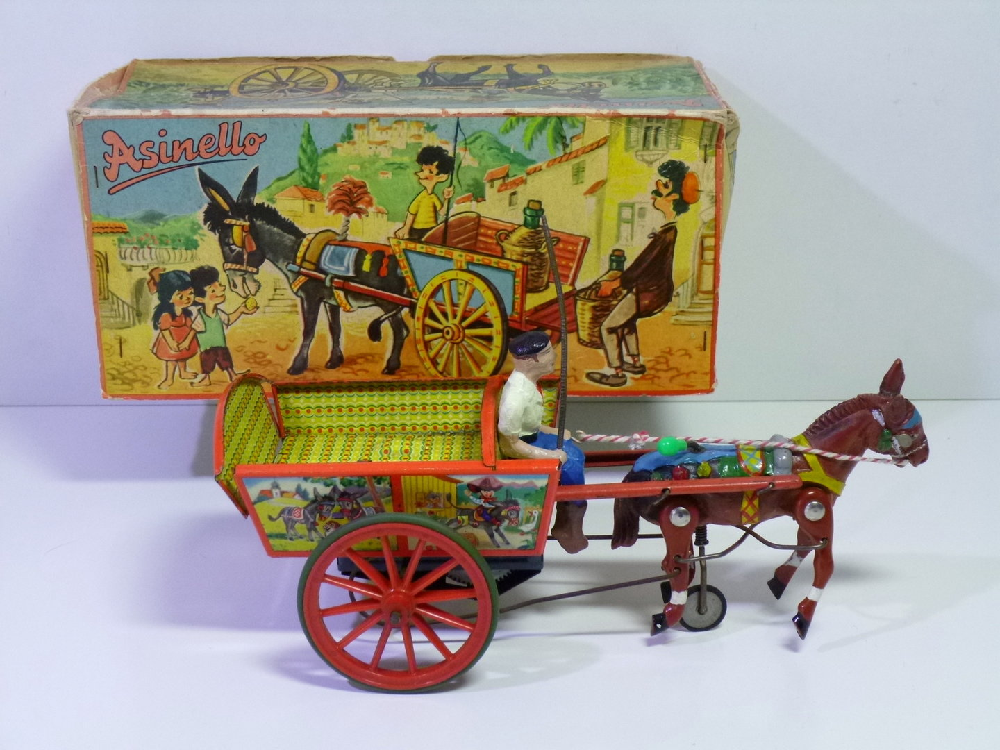 "Ruhl (Germany) # 1950's Ezelwagen / Ezelkar ""ASINELLO"" in Original Box  !!"