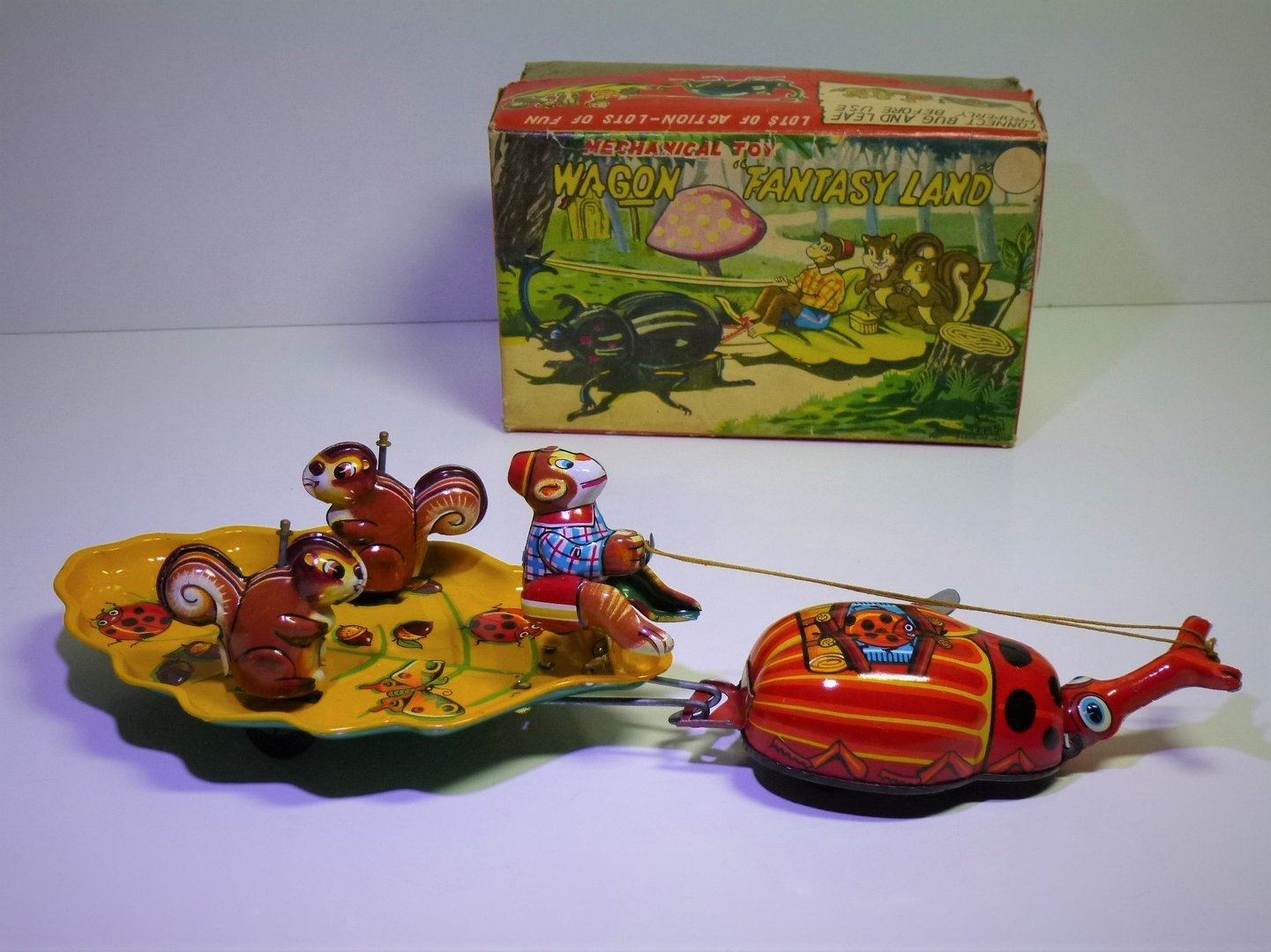 "TPS (Japan) # 1960's Mechanical ""WAGON FANTASY LAND"" in Original Box !!"