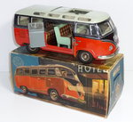 TippCo 921F # 1960's B/O VOLKSWAGEN / VW TRANSPORTER MICROBUS with Electric Lights + Original Box !!