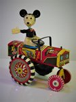 Louis Marx # 1950's Mickey Mouse 'Dipsy Car / Crazy Car' , clockwork