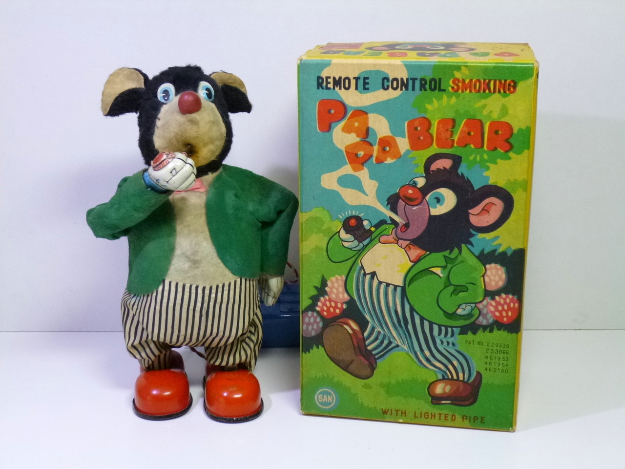 "Marusan # 1950's ""Papa Smoking Bear"" in Original Box !!"