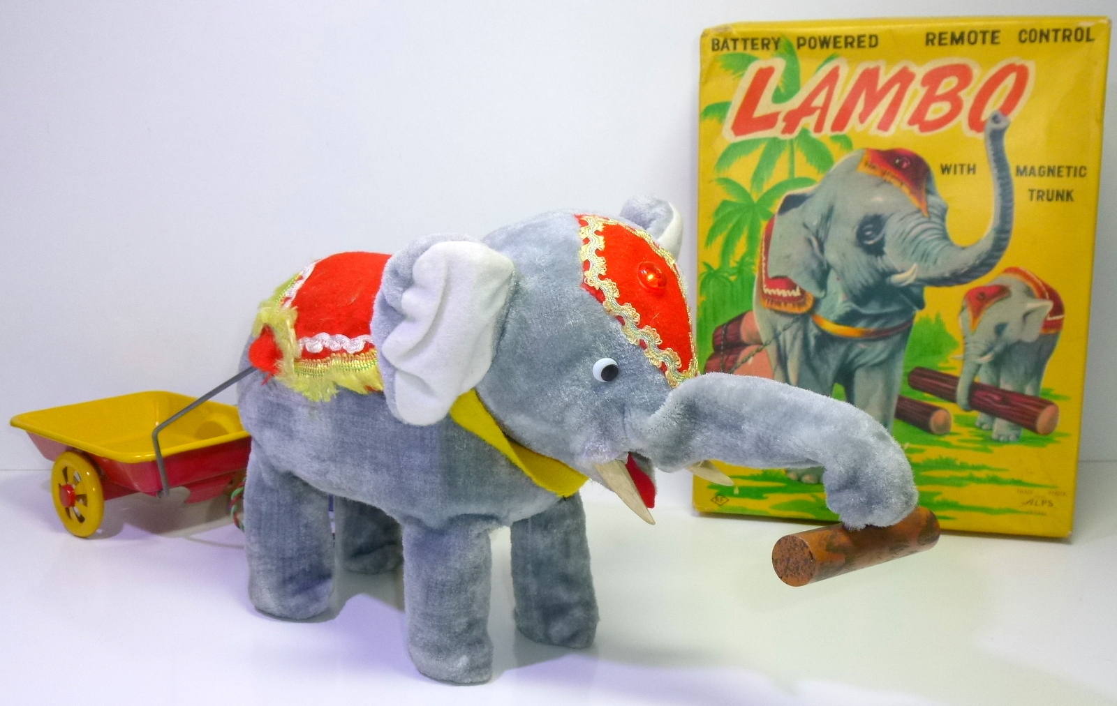 "ALPS (Japan) # 1950's ""LAMBO the Elephant"" battery-toy in Original Box !!"