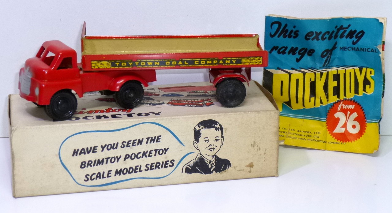 Brimtoys (England) # 1950's Tin BEDFORD COAL LORRY with Box !!