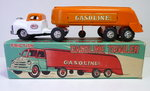 SSS-Toys (Japan) # 1960's Blikken Tankauto / Gasoline Trailer in Original Box !!