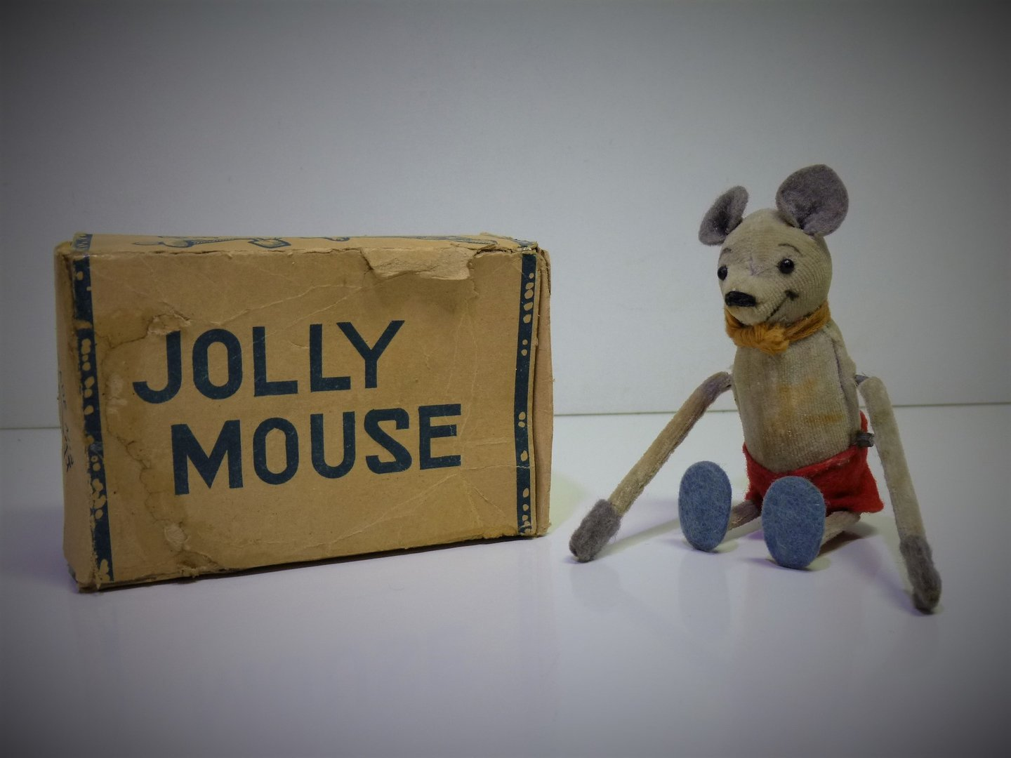 "CK-Toys (Japan) # 1950's ""JOLLY MOUSE"" with Box !!"