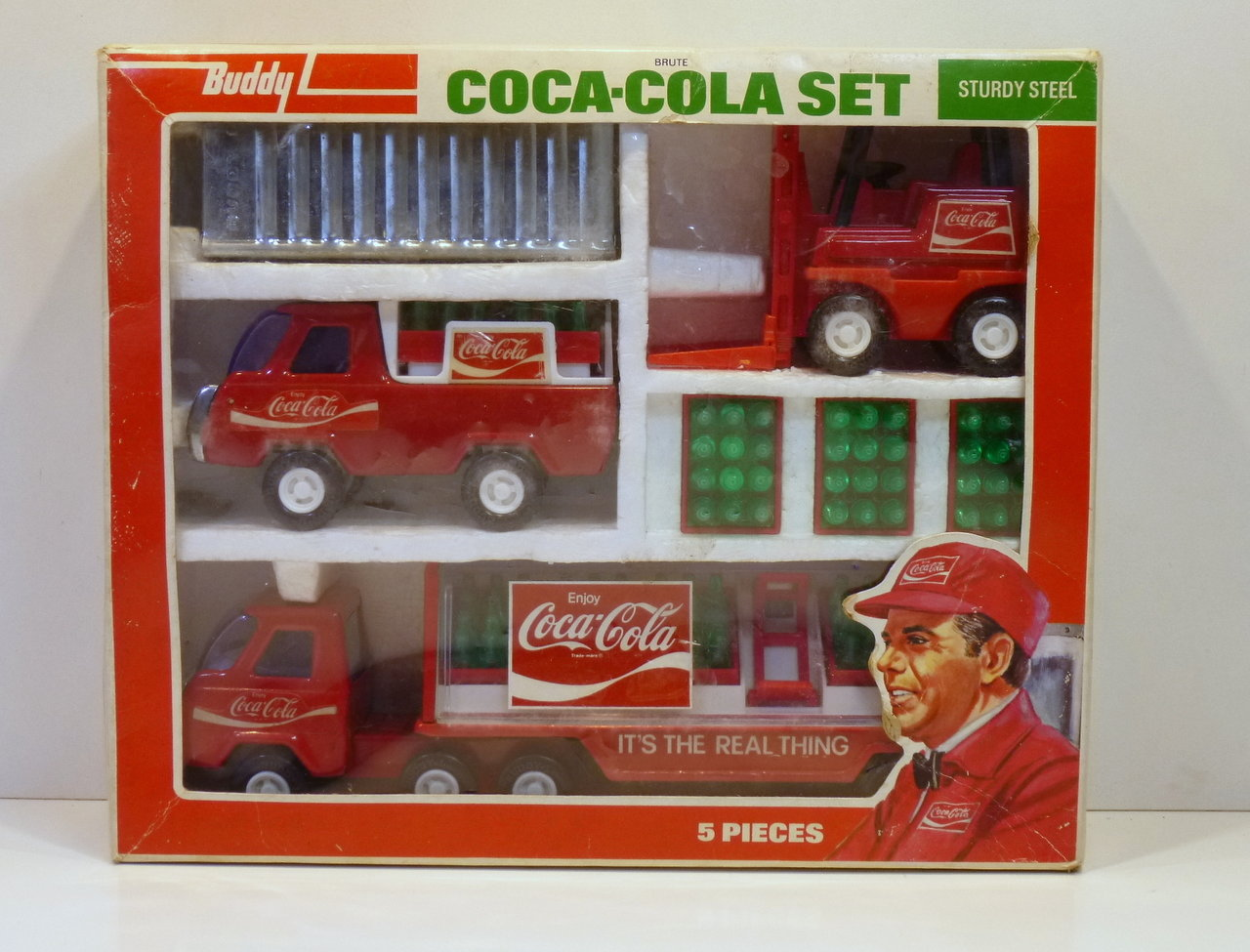 BuddyL 4973 # 1970's Coca Cola Set in Original Box !!