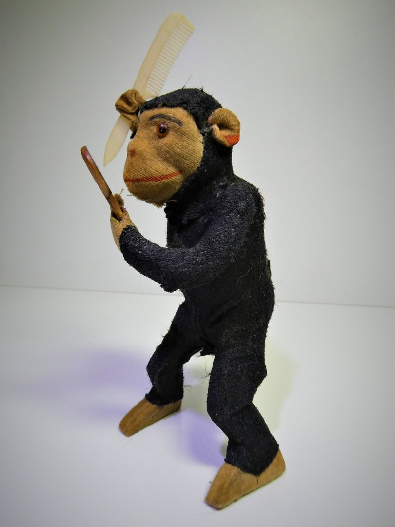 Antique 1920's Jungwirth & Co. (Germany) Mechanical Chimpansee Aap / Monkey / Affe, clockwork